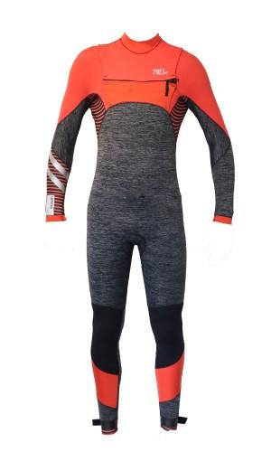 Supreme orange wetsuit FZ 4/3mm
