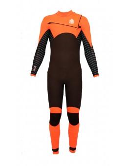 Divergent orange wetsuit FZ 5/4mm